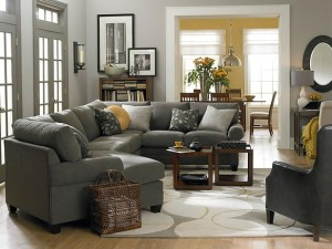 Image Source HGTV Bassett Gray Living Room